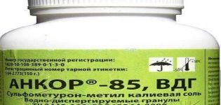Οδηγίες για τη χρήση του ζιζανιοκτόνου Ankor 85, μηχανισμός δράσης και ποσοστά κατανάλωσης