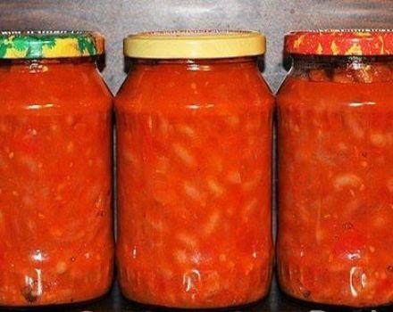 Recepten voor het inblikken van bonen in tomaat voor de winter zoals in de winkel