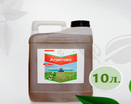 Instrucciones para el uso del herbicida Agritox y el espectro de acción de la droga.