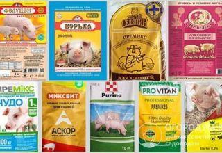 Pros y contras de las premezclas porcinas, la composición y los principales productores