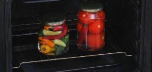 Las mejores formas de esterilizar tomates en frascos y la duración del procedimiento.