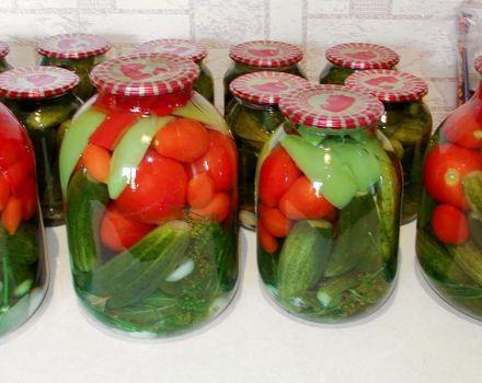 TOP 3 des recettes de tomates et concombres assortis avec de l'acide citrique pour l'hiver