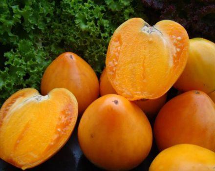 Az Aranyszívű paradicsomfajta jellemzése és leírása, termése