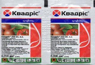 Pokyny na použitie fungicídu Quadris na ošetrenie hrozna, čakaciu dobu a pôsobenie