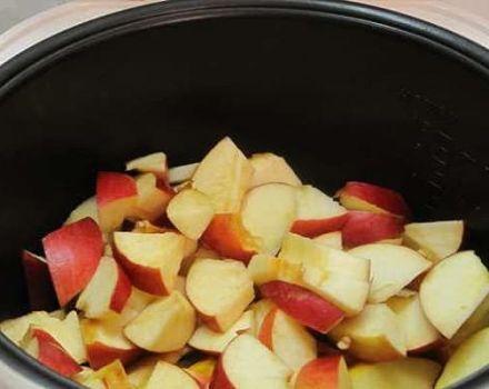 Az Apple jam receptjei egy lassú tűzhelyben és egy főzőlappal télen