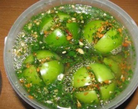 A legjobb receptek a pácolt zöld paradicsom betakarításához a téli időszakra
