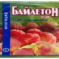 Instrucțiuni pentru utilizarea fungicidului Bayleton, compoziția și forma de eliberare a produsului