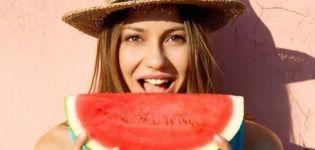 A görögdinnye ártalma és előnyei a nők, a férfiak és a gyermekek egészségére, tulajdonságai és kalóriája