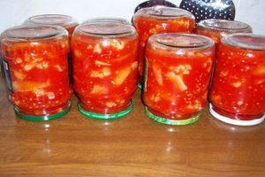 Egyszerű receptek a karfiol konzerv készítésére paradicsomban télen