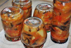 Receta de ajapsandal en frascos para el invierno.