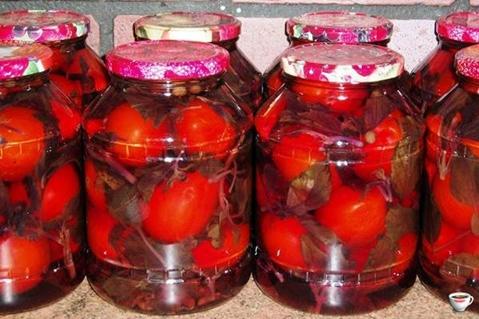 paradicsom bazsalikommal üvegekbe