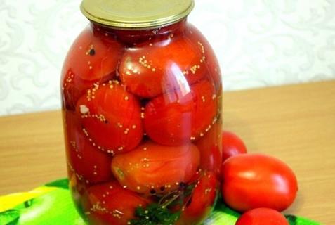 tomates con semillas de mostaza y albahaca