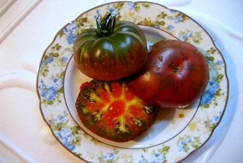 en un plato hermoso