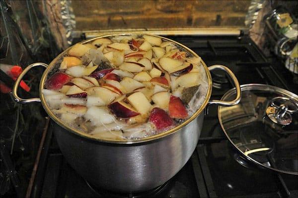 compota de peras y manzanas