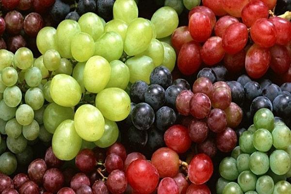 preparación de uvas