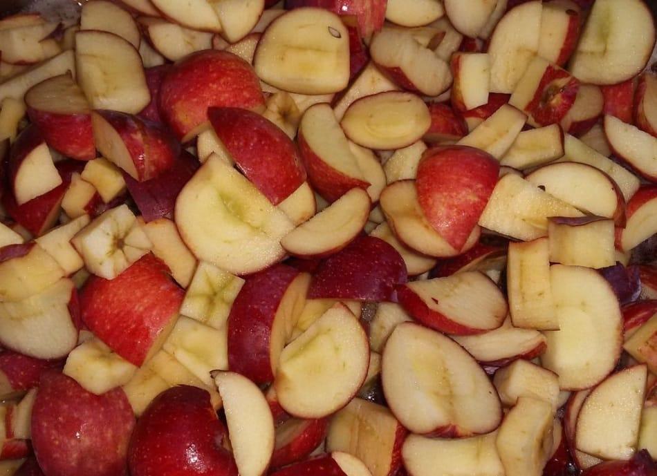 manzanas en rodajas