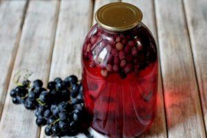 Recetas sencillas para hacer compota de uva para el invierno en casa en un tarro de 3 litros