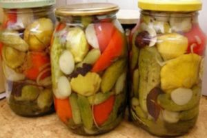 Cum să gătești o grădină de legume într-un borcan cu roșii, varză, ardei și morcovi fără sterilizare pentru iarnă
