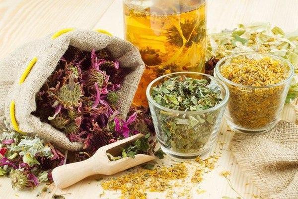 szárított gyógynövények