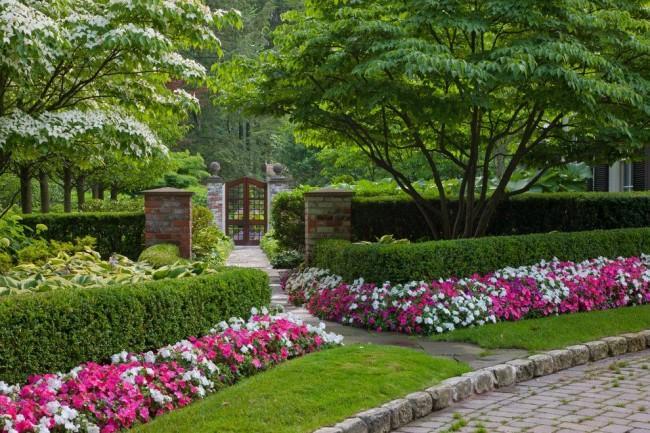 balzam krásne záhradné dekorácie