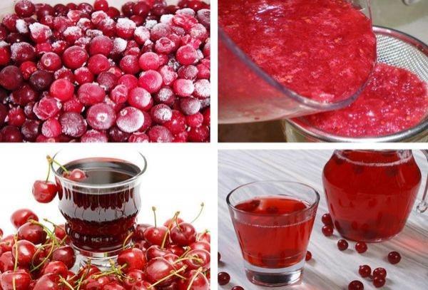 jugo de cereza en su jugo