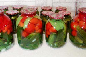 TOP 3 recetas de tomates y pepinos variados con ácido cítrico para el invierno