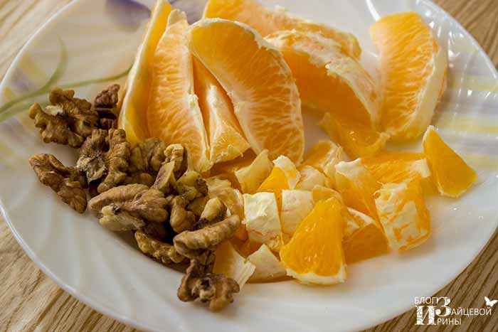 gem de alune și portocale