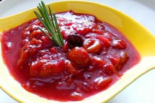 salsa de bayas