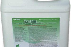 Instrucciones de uso del herbicida Ballet, composición y forma de liberación del producto.