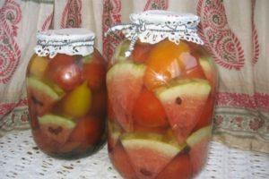 6 legjobb recept a görögdinnye paradicsomának télen történő főzéséhez sterilizálás nélkül