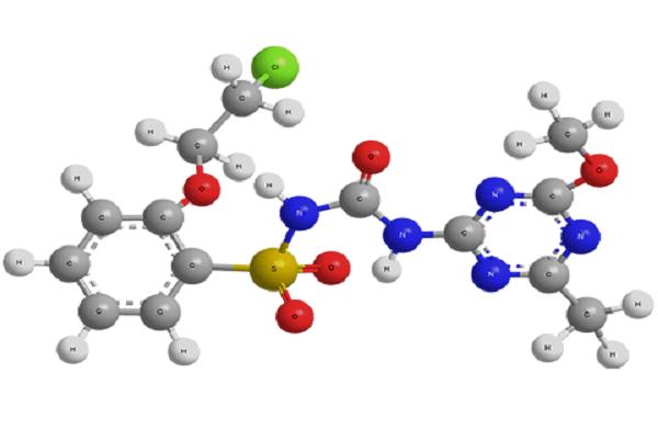 a triaszulfuron szerkezete
