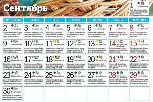 calendarul grădinarului