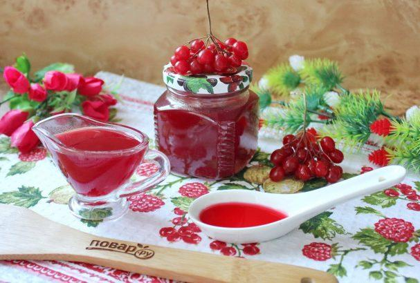 mermelada de viburnum